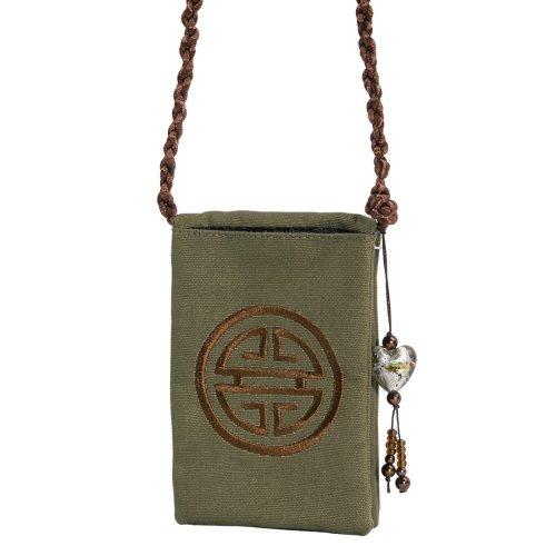 Hama Set Calimera Telefontasche mit Schmuckanhänger salbei (Salbei Tasche)