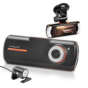 """E-PRANCE® New 2.7"""" HD 1920*1080P F90G Car DVR Dual Cameras + G-Sensor + GPS Logger + H.264 + 5MP CMOS + Support HDMI & USB 2.0"""