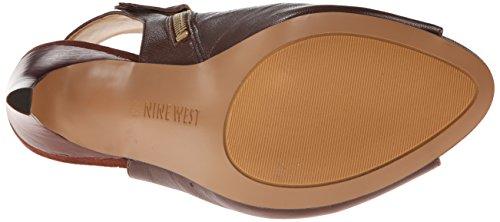 Nine West Mohawk It Femmes Cuir Mules Dark Brown