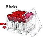 Box Fiore chiaro Rosa acrilico con copertura del fiore romantico fresco di mantenimento della sicurezza