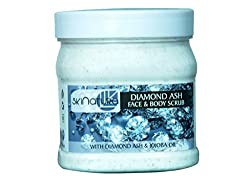 skinatura diamond ash face & body cream scrub