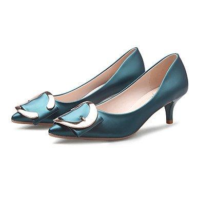 Moda Donna Sandali Sexy donna tacchi Easy Street Asakuchi medio tacco tacchi a spillo/Pompa Punta abito scarpe/Casual/Office scarpe gray