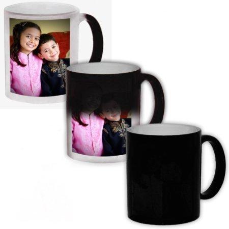 EFW Magic Mug Black Ceramic Colour Changing Coffee Mug