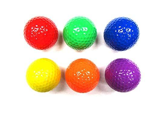 Crestgolf Balle de Golf de Couleur mélangée, balles de Golf pour Practice, Balle de Golf, 2 Styles...