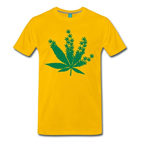 feuille-de-cannabis-composee-de-feuilles-t-shirt-premium-homme-de-spreadshirtr-5xl-jaune-soleil