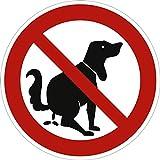 """Cartello, segnale di divieto per indicare: """"questa non è una toilette per cani"""", diametro di 31,5 cm, in alluminio e resistente agli agenti atmosferici, per scongiurare escrementi di cane"""