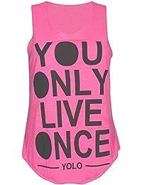 New Yolo traje de neopreno para mujer Slub de costura para chalecos de sin mangas para mujer diseño de costura para camisetas de mujer You Only Live Once