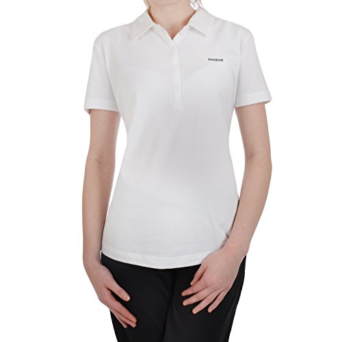 Reebok Damen Polos (Reebok Core - Damen Polo-Shirt - Normal - Weiß - M)