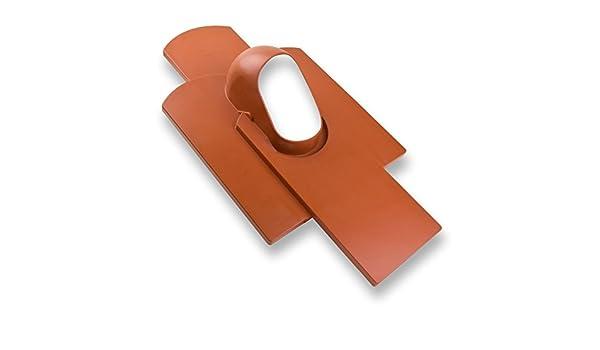 Kl/öber Venduct Dach Grundplatte Dachdurchf/ührung DN 100 mm Biberschwanz Dachentl/üftung Rot Orange Vierfachstein Strangentl/üftung L/üftungsziegel
