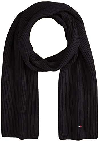 tommy hilfiger pima cotton scarf sciarpa, nero (black bds), unica (taglia produttore: os) uomo