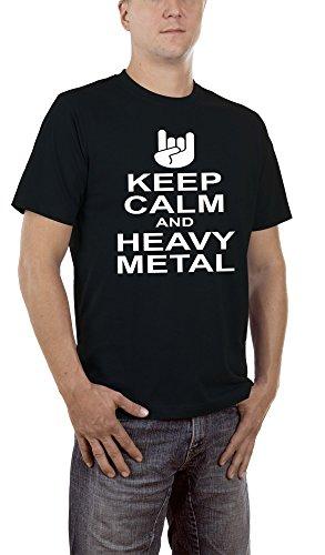 Touchlines Keep Calm Heavy Metal, T-Shirt Uomo, Black 13, X-Large