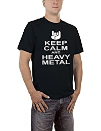 Touchlines Herren T-Shirt Keep Calm Heavy Metal