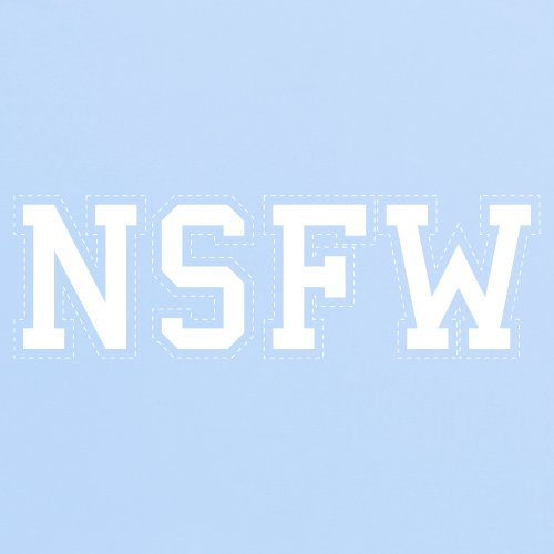 NSFW T-Shirt, Herren Himmelblau