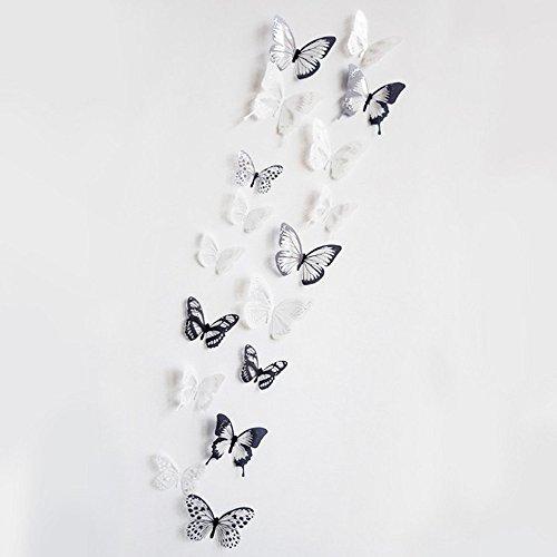 new 18pcs 3D Schmetterling Wand Aufkleber art Aufkleber Zuhause Zimmer Dekorationen Decor PVC Abnehmbare Schmetterlinge Decor