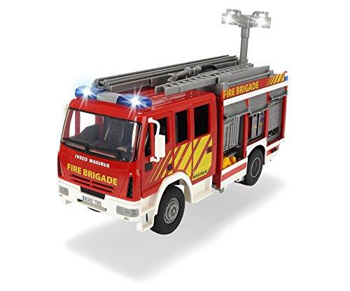 RC Auto kaufen Feuerwehr Bild: Dickie Toys 203717002 - Iveco Fire Engine, Feuerwehrauto mit Freilauf, mit Licht- und Soundfunktion, mit Wasserspritze, 30cm*