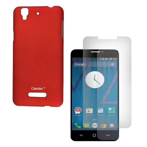 Casotec Ultra Slim Hard Shell Back Case Cover for Micromax Yu Yureka - Maroon Red  available at amazon for Rs.99