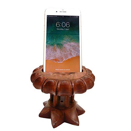 Support mobile en bois avec le support de téléphone portable de travail de coupeur, pour garder mobile à l'endroit sûr dans la manière unique, jour de Pâques / fête des mères / cadeau de vendredi bon