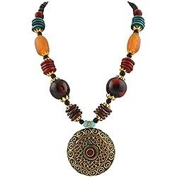 Zephyrr Multicolor Non-Precious Metal Pendant Necklace For Women