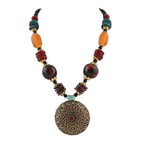 Zephyrr Multicolor Non-Precious Metal Pendant Necklace For Women