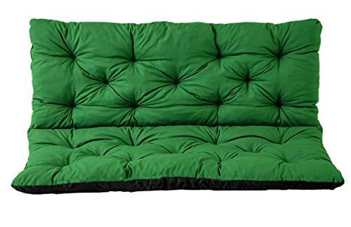 Gartenbankauflage Bankauflage Bankkissen Sitzkissen Polsterauflage Sitzpolster (180x60x50, Grün)