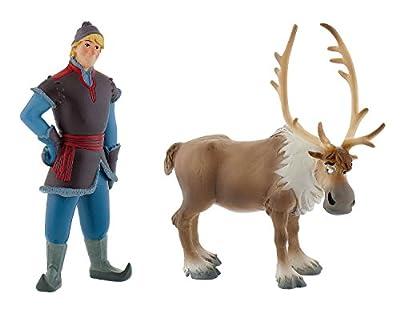Bullyland 13062 - Spielfigurenset - Walt Disney La Reina de Hielo, Totalmente descarada - Mini y Mini Kristoff Sven por Bullyland