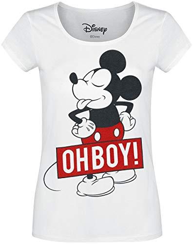 Micky & Minnie Oh Boy Camiseta Blanco S