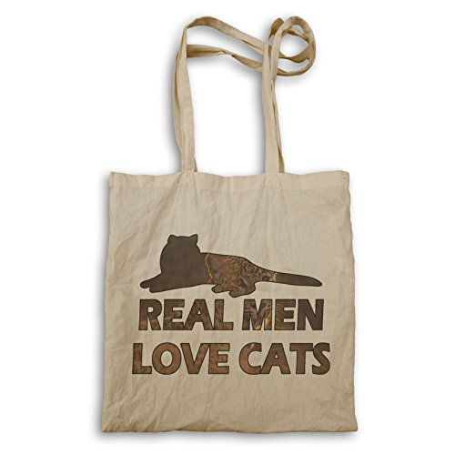 Echte Männer Lieben Katzen Tragetasche r899r (Lieben Echte Katzen Männer)