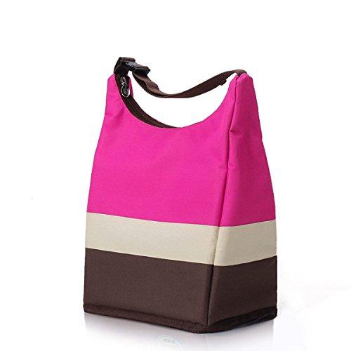 Die Tragbare Wärme Taschen Reißverschluß Picknick Eisbeutel Paket Außenpicknicktaschen Aufbewahrungsbeutel Camping,Red