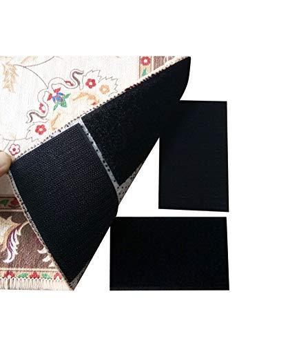 LumenTY 12 pares de anclajes antideslizantes para alfombra, pegatinas
