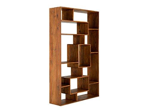 massivum Bücherschrank Cube 120x198x35 cm Palisander braun gewachst