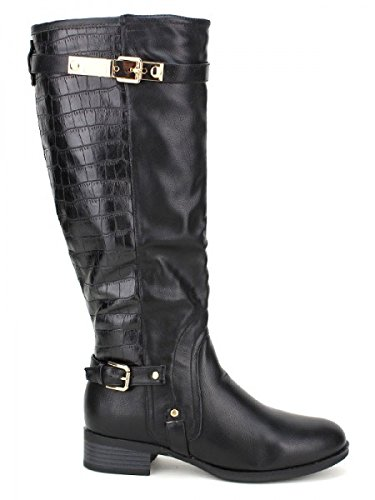 Cendriyon, Cavalière Noire SHANGY Mode Chaussures Femme Noir