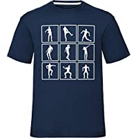 laylawson Kids Dance Emotes Celebrations T Shirt, Navy, 7-8 Years (Chest 32 inch)