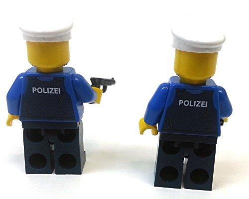 Modbrix 8237 – 2 Stück Deutsche Polizei Custom Minifiguren aus original Lego© Teilen - 7