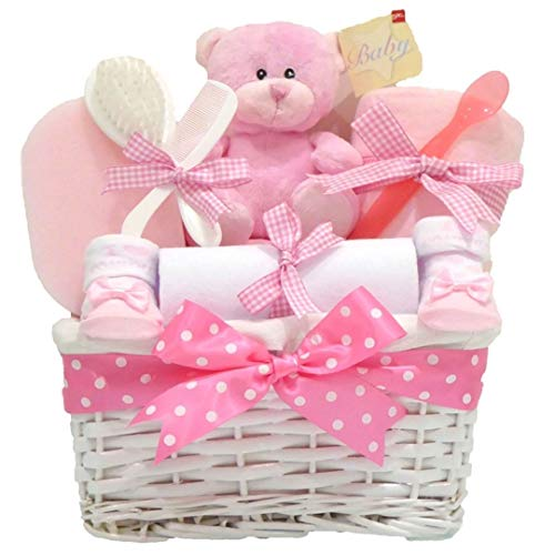 eflecht Baby Girl Geschenk Korb/Baby-Geschenkkorb/Baby Dusche Geschenk/New Arrival/Baby Andenken/Schnell Versand ()