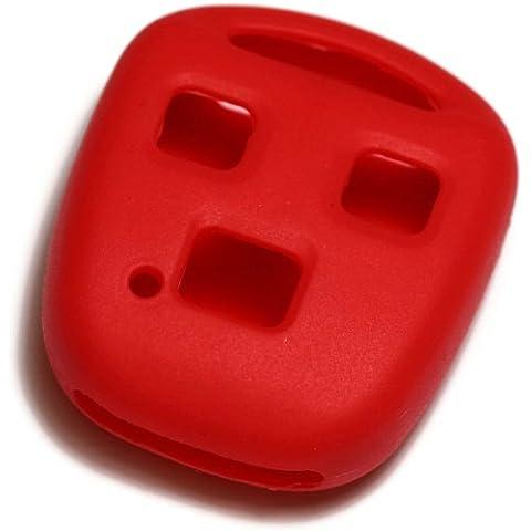 dantegts silicona rojo llavero Funda Protección de fundas para Smart Remote Key Chain compatible: Lexus