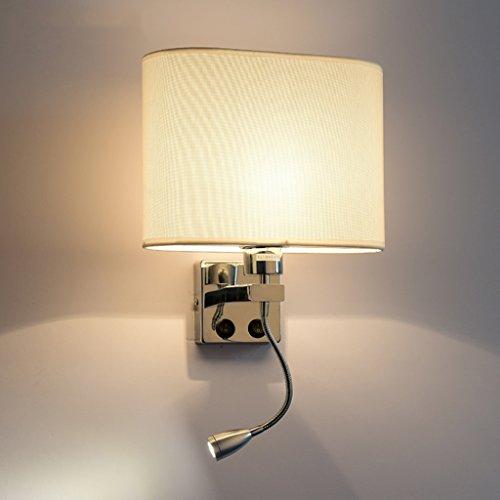William 337 lampada da comodino a led, soggiorno moderno semplice in camera da letto corridoio scale hotel balcone lampada da parete con interruttore ( colore : b-singola testa )
