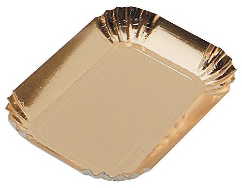 Garcia de pou 100 unité Mini boîte en rectangulaire, 9.5 x 5 cm, Carton, Doré, 30 x 30 x 30 cm