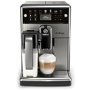 Saeco sm5573/10PicoBaristo Deluxe Macchina da Caffè automatica con caraffa a Latte e pulsanti tattili metallo, 1.7L, acciaio inox