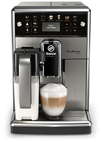 Saeco PicoBaristo Deluxe SM5573/10 Kaffeevollautomat (LED Display, integriertes Milchsystem) edelstahl