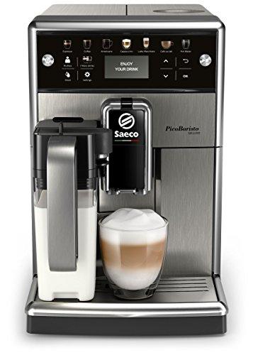 Saeco PicoBaristo Deluxe SM5570/10 Machine à expresso automatique noir avec carafe à lait et...