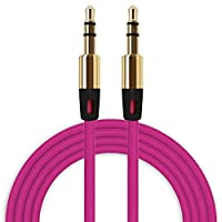 ‏‪3.5mm Auxiliary Cable Audio Cable Male To Male Flat Aux Cable HOT‬‏