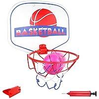 Akokie Mini Basketballkorb Korbanlagen Transportabel Mit Basketball Ballpumpe Indoor Büro Badezimmer Spielzeug Für Erwachsener Kinder 3+