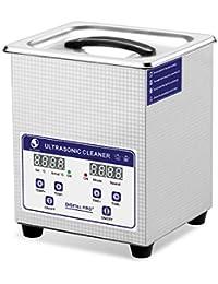SKYMEN Limpiador Ultrasónicos 2L Limpiador Ultrasonidos Limpiador de ultrasonido con Calefacción y Ajuste de la función