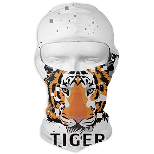 Tiger Animal Balaclava - Windproof Ski Mask - Motorcycle Full Face UV Protection Mask New3 (Tiger Online Mask)
