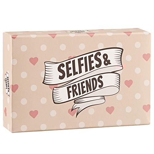 Selfies&Friends - Das Selfiespiel mit kreativen Fotoaufgaben als Geburtstagsgeschenke für Gäste! Funktioniert natürlich auch ohne Photo Booth, Fotorequisiten und Selfiestick für Silvester (Silvester Partyartikel Für)