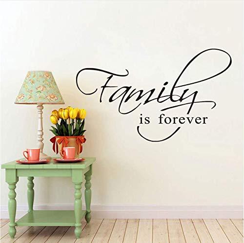Qthxqa Familie Ist Für Immer Wandkunst Aufkleber Zitat Wörter Schriftzug Dekor Aufkleber Wandtattoos Wohnkultur Zimmer Decoration44 * 27Cm