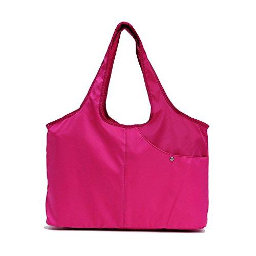 MSZYZ Weihnachtsgeschenke Mutter Und Baby Tasche Licht Single Schulter Tide Mutter Tasche Multi Function Mode Tasche Travel Bag Rose Rot