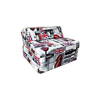 Natalia Spzoo Matelas lit Fauteuil futon Pliable Pliant Choix des Couleurs - Longueur 200 cm (London)