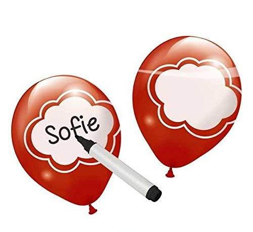 bb10 Schmuck Luftballon Ballons zur kreativen Selbstbeschriftung mit der einzigartigen persönlichen Gestalltung für Dekoration zum Geburtstag Hochzeit Valentinstag Party oder andere Anlässe 6 Stück