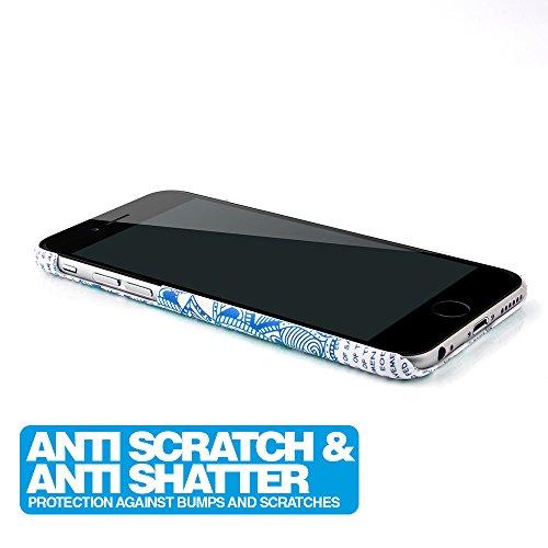 MC24® Mandala Case Apple iPhone 6s in blau - dünne fluoreszierende Schutzhülle aus Polycarbonat Blau
